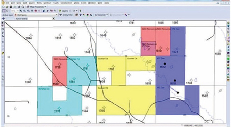 Display Townships, Counties and Section in map by utilizing cultural data