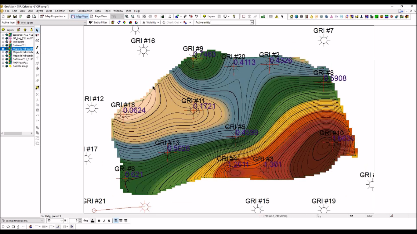 Estimar OIP (Oil in Place) utilizando GVERSE GeoGraphix